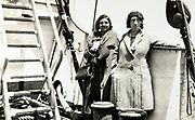 two women on a big ship 1930s