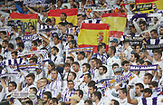 Real Madrid fans during the Champions League match between Real Madrid and Tottenham Hotspur at the Santiago Bernabeu Stadium, Madrid, Spain on 17 October 2017. Photo by Ahmad Morra.