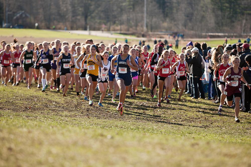 New England High School XC Championship, start of girls race