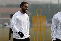 Vinovo 21.02.2017 - Allenamento di vigilia di Porto-Juventus - Champions League 2016-17 - Nella foto:  Gonzalo Higuain - Juventus