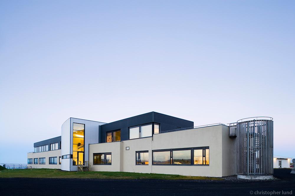 Klébergsskóli Children School at Kjalarnes, Iceland. Klébergsskóli á Kjalarnesi.