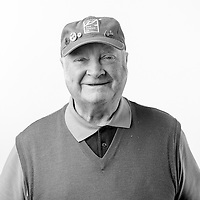 Adam Brownlie, Royal Airforce, Electronics/Radar Technician, Junior Technician, 1953-1955.  Adam is registered blind and is a regular visitor to the Scottish War Blinded centre.  Veterans Portrait Project UK, Edinburgh, Scotland.