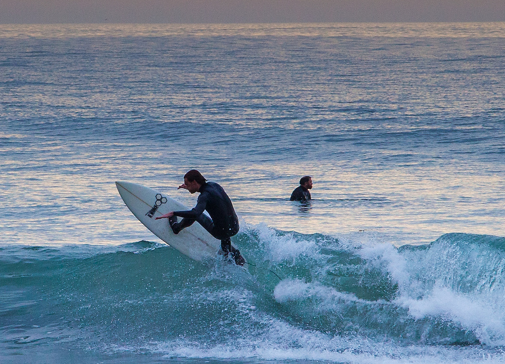 Surfers at Rincon Point, Santa Barbara County, California