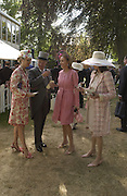 Princess Corinna zu Sayn Wittgenstein,  Corinna Larsen, Corinna Larson, Corinna Sayn Witgenstein, , Princess Corinna Sayn-Wittgenstein, Winston Churchill, Kate Elaessens and Bernadette Lejeune, Ascot, Tuesday 15 June 2004. ONE TIME USE ONLY - DO NOT ARCHIVE  © Copyright Photograph by Dafydd Jones 66 Stockwell Park Rd. London SW9 0DA Tel 020 7733 0108 www.dafjones.com