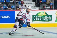 REGINA, SK - MAY 23: Sam Steel #23 of the Regina Pats warms up against the Swift Current Broncos at the Brandt Centre on May 23, 2018 in Regina, Canada. (Photo by Marissa Baecker/CHL Images)