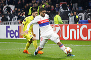 Nabil Fekir of Lyon during the UEFA Europa League, Round of 32, 1st leg football match between Olympique Lyonnais and Villarreal on February 15, 2018 at Groupama stadium at Decines-Charpieu near Lyon, France - Photo Romain Biard / Isports / ProSportsImages / DPPI
