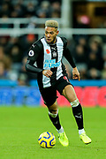 Joelinton (#9) of Newcastle United ont he ball during the Premier League match between Newcastle United and Bournemouth at St. James's Park, Newcastle, England on 9 November 2019.