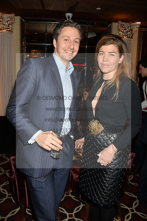 AMBER NUTTALL and JAMIE TAYLOR at the Pig Pledge Evening at Club no41, 41 Conduit Street, London on 10th March 2014.
