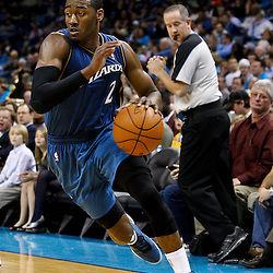 February 1, 2011; New Orleans, LA, USA; Washington Wizards point guard John Wall (2) against the New Orleans Hornets during the third quarter at the New Orleans Arena. The Hornets defeated the Wizards 97-89.  Mandatory Credit: Derick E. Hingle