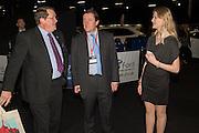 NIGEL MUMFORD; ALEC MUMFORD; NATASHA WINSLADE, Preview for The London Motor Show, Battersea Evolution. London. 5 May 2016