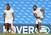 Tendai Mtawarira in action during the South Africa Captain's Run training session in preparation for the Rugby World Cup at the American Express Community Stadium, Brighton and Hove, England on 18 September 2015.
