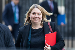 © Licensed to London News Pictures. 30/01/2018. London, UK. Secretary of State for Northern Ireland Karen Bradley leaving Downing Street after attending a Cabinet meeting this morning. Photo credit : Tom Nicholson/LNP