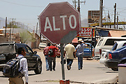 Altar, Sonora, Mexico, which is about 60 miles south of the U.S./Mexico border at Arizona, serves as a staging area for migrants who enter the United States illegally.