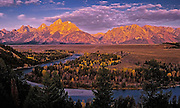 Sunrise image of the Snake River at Grand Teton National Park, Wyoming, Pacific Northwest