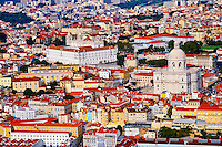 Portugal, Lisbonne, quartier de l'Alfama, monastere Sao Vicente de Fora et le Pantheon National // Portugal, Lisbon, Alfama, view on Sao Vicente de Fora monastery and National Pantheon