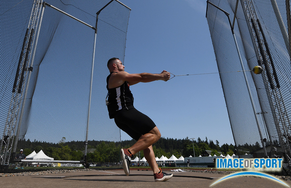 Jun 6, 2018; Eugene, OR, USA; Cristian Ravar Ladislau of Arkansas State places 15th in the hammer throw at 223-3 (67.75m) during the NCAA Track and Field championships at Hayward Field.