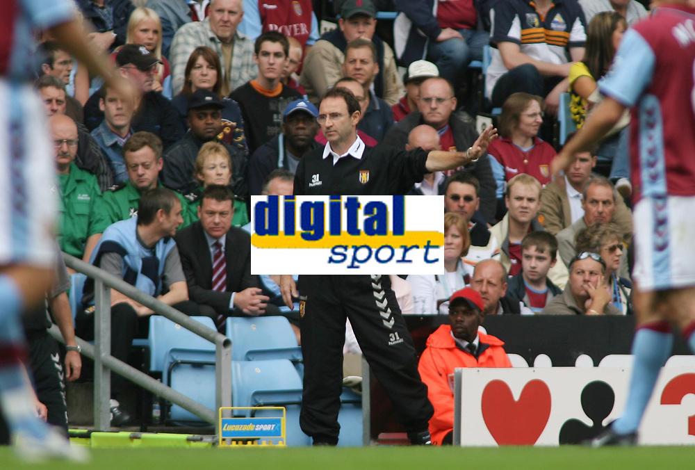 Photo: Rich Eaton.<br /> <br /> Aston Villa v Newcastle United. The Barclays Premiership. 27/08/2006. Manager of Aston Villa Martin O'Neill