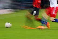 Football: Germany, 1. Bundesliga<br /> Ball und Beine, Detail, Bein, Fussballbeine, Fussballer, Illustration, Ballsport, Ballspiel, Fussballerbeine, Aktion, action, speed, Zweikampf,