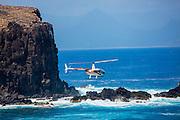 Robinson 22 Helicopter, Oahu, Hawaii
