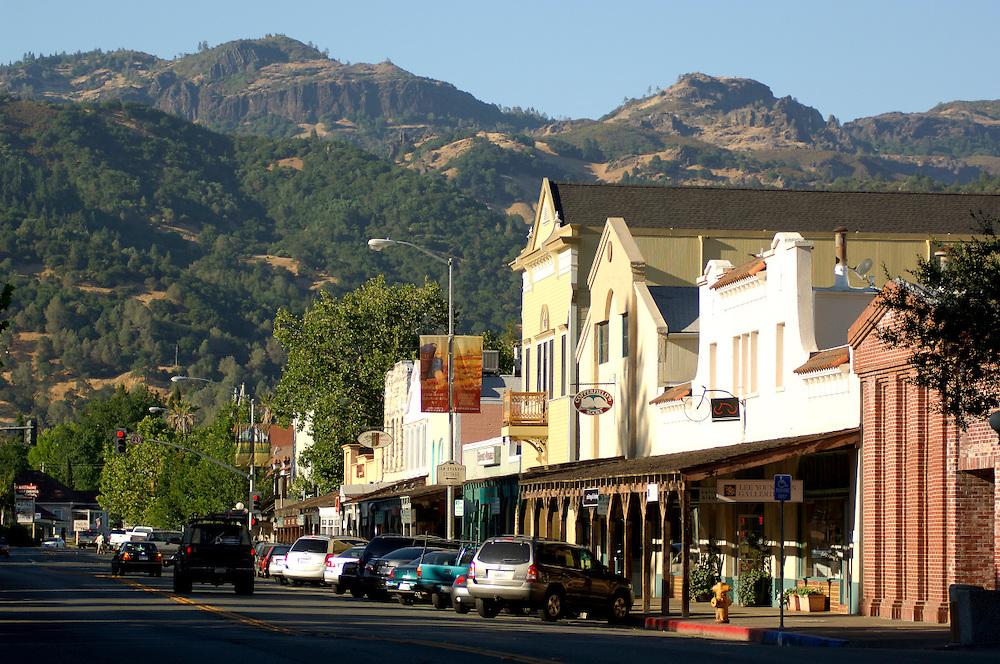 Downtown Calistoga, Napa Valley, California, United States of America