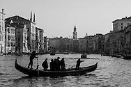Italy. Venice.  the Grand Canal . Gondolas  Venice - Italy   / gondoles sur  le grand canal,  Venise - Italie