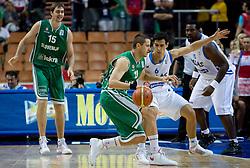 Bostjan Nachbar (10) of Slovenia vs Nikolaos Zisis of Greece during the EuroBasket 2009 3rd place match between Slovenia and Greece, on September 20, 2009, in Arena Spodek, Katowice, Poland.   (Photo by Vid Ponikvar / Sportida)