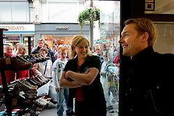 IRELAND DUBLIN 9MAY06 - Singer Ronan Keating (29) visits Korky's shoe store where he used to work for three years. The popstar emerged on the international scene in 1994 with the band Boyzone and has since gone solo and is about to release his new album 'Bring You Home' in June this year...jre/Photo by Jiri Rezac..© Jiri Rezac 2006..Contact: +44 (0) 7050 110 417.Mobile:  +44 (0) 7801 337 683.Office:  +44 (0) 20 8968 9635..Email:   jiri@jirirezac.com.Web:    www.jirirezac.com..© All images Jiri Rezac 2006 - All rights reserved.