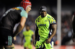 Brian Mujati of Sale Sharks looks on - Mandatory byline: Patrick Khachfe/JMP - 07966 386802 - 06/11/2015 - RUGBY UNION - The Twickenham Stoop - London, England - Harlequins v Sale Sharks - Aviva Premiership.