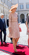 Rome, 20-06-2017 <br /> <br /> State visit from King Willem-Alexander and<br /> Queen M&aacute;xima to The Republic of Italy and The Holy See in Vatican City.<br /> <br /> Welcome ceremony Palazzo del Quirinale<br /> <br /> ONLY PUBLISHING IN FRANCE<br /> <br /> COPYRIGHT: ROYALPORTRAITS EUROPE/ BERNARD RUEBSAMEN
