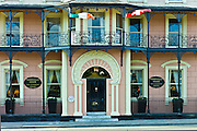 Elegant Georgian hotel front of Perryville House Hotel, Kinsale, County Cork, Ireland