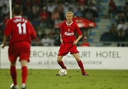 BANGKOK, THAILAND - Thailand. Thursday, July 24, 2003: Liverpool's Zac Whitbread makes his debut against Thailand during a preseason friendly match at the Rajamangala National Stadium. (Pic by David Rawcliffe/Propaganda)
