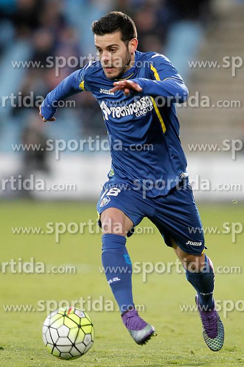 27.02.2016, Estadio Balaidos, Vigo, ESP, Primera Division, Getafe CF vs RC Celta, 26. Runde, im Bild Getafe's Victor Rodriguez // during the Spanish Primera Division 26th round match between Getafe CF and RC Celta at the Estadio Balaidos in Vigo, Spain on 2016/02/27. EXPA Pictures &copy; 2016, PhotoCredit: EXPA/ Alterphotos/ Acero<br /> <br /> *****ATTENTION - OUT of ESP, SUI*****