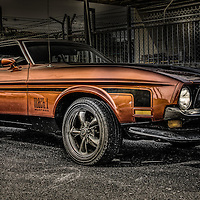 Classic Ford Mustang muscle car
