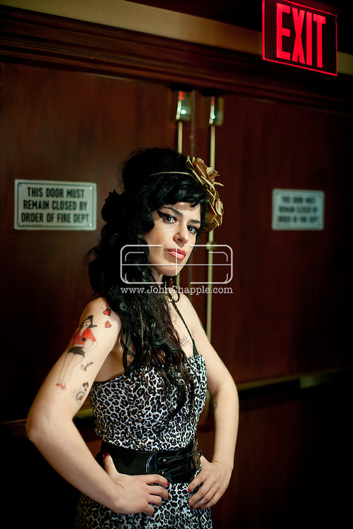 24th February 2011. Las Vegas, Nevada.  Celebrity Impersonators from around the globe were in Las Vegas for the 20th Annual Reel Awards Show. Pictured 34-year-old Monica de Diago, an actress from Balboa in Spain - and a dead ringer for Amy Winehouse. Photo © John Chapple / www.johnchapple.com..