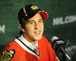 Philipp Danault of the Victoriaville Tigres was selected by the Chicago Blackhawks in the 2011 NHL Entry Draft in St. Paul, MN on Friday June 24. Photo by Aaron Bell/CHL Images