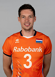 14-05-2018 NED: Team shoot Dutch volleyball team men, Arnhem<br /> Maarten van Garderen #3 of Netherlands