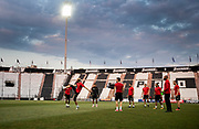 THESSALONIKI, GREECE - AUGUST 16: Players of Oestersunds FK during training ahead of the UEFA Europa League Qualifying Play-Offs round first leg match between PAOK Saloniki and &Ouml;stersunds FK at Toumba Stadium on August 16, 2017 in Thessaloniki, Greece. Foto: Nils Petter Nilsson/Ombrello<br /> ***BETALBILD***