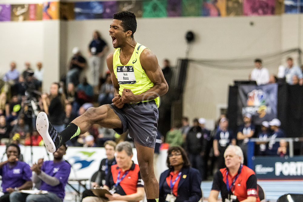 USATF Indoor Track & Field Championships: men high jump, Nick Ross