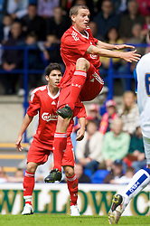 BIRKENHEAD, ENGLAND - Saturday, July 12, 2008: Liverpool's Daniel Agger during his side's first pre-season match of the 2008/2009 season against Tranmere Rovers at Prenton Park. (Photo by David Rawcliffe/Propaganda)