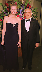 DR MORTIMER & MRS SACKLER, he is the pharmacuticle multi-millionaire, at a dinner in London on 19th May 1998.MHS 26