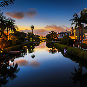 Venice Canals at Venice Beach at sunset. Available for digital download.