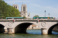 Pont Neuf  river seine Paris France in Spring time of May 2008