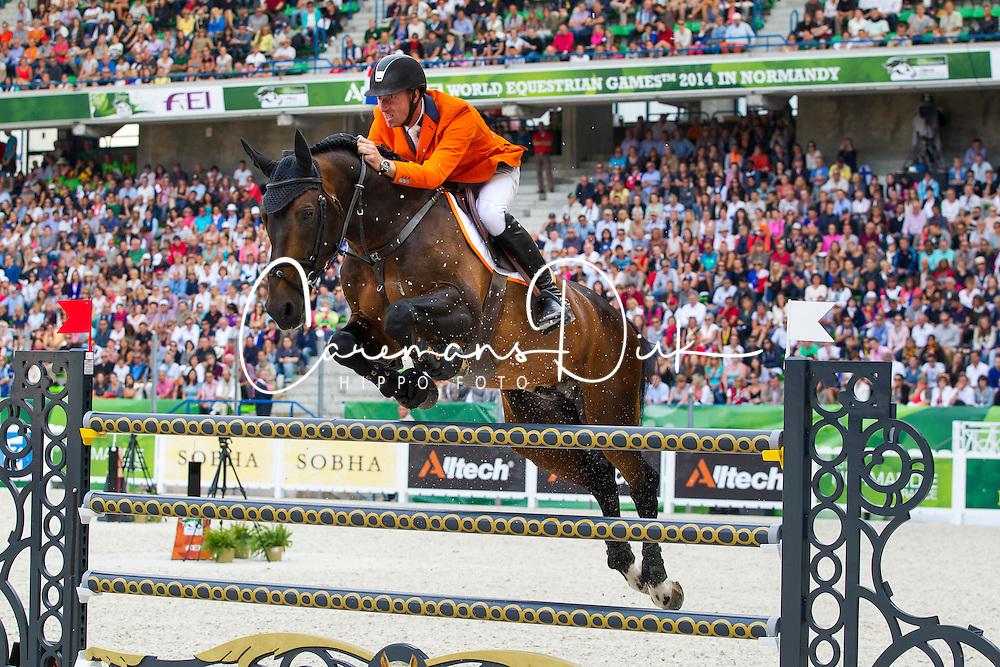 Jur Vrieling, (NED), VDL Bubalu - Second Round Team Competition - Alltech FEI World Equestrian Games&trade; 2014 - Normandy, France.<br /> &copy; Hippo Foto Team - Leanjo De Koster<br /> 25/06/14
