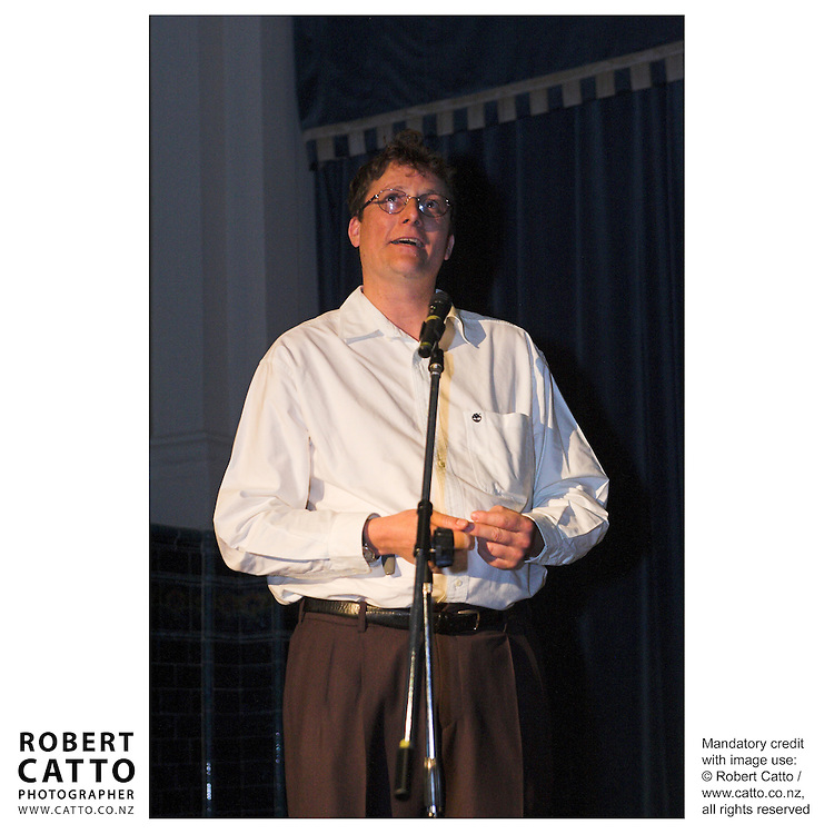 Richard Taylor at the Spada Conference 2005: Small Country, Big Picture at the Embassy Theatre, Wellington, New Zealand.