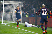 Edinson Roberto Paulo Cavani Gomez (psg) (El Matador) (El Botija) (Florestan) scored a goal with the ball served by Kylian Mbappe (PSG), Ismael DIOMANDE (SM Caen) on the floor during the French Championship Ligue 1 football match between Paris Saint-Germain and SM Caen on December 20, 2017 at Parc des Princes stadium in Paris, France - Photo Stephane Allaman / ProSportsImages / DPPI