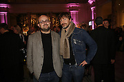 M/M Paris: Michael Amzalag and Mathias Augustyniak. Party to celebrate the Christian Lacroix Fashion in Motion fashion show and the opening of  	M/M Paris: Antigone Under Hypnosis part of  Paris Calling the UK-wide celebration of contemporary French culture. V. & A. London. 31 October 2006. -DO NOT ARCHIVE-© Copyright Photograph by Dafydd Jones 66 Stockwell Park Rd. London SW9 0DA Tel 020 7733 0108 www.dafjones.com