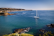 Sailing in Crescent Bay Point Laguna Beach