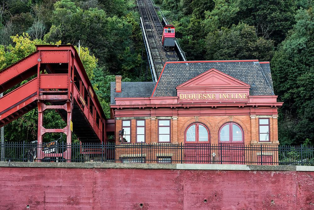 Duquesne Incline, Pittsburgh, Pennsylvania, USA.