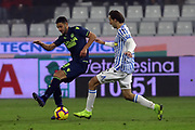 Foto LaPresse/Filippo Rubin<br /> 26/12/2018 Ferrara (Italia)<br /> Sport Calcio<br /> Spal - Udinese - Campionato di calcio Serie A 2018/2019 - Stadio &quot;Paolo Mazza&quot;<br /> Nella foto: HIDDE TER AVEST (UDINESE) VS SIMONE MISSIROLI (SPAL)<br /> <br /> Photo LaPresse/Filippo Rubin<br /> December 26, 2018 Ferrara (Italy)<br /> Sport Soccer<br /> Spal vs Udinese - Italian Football Championship League A 2018/2019 - &quot;Paolo Mazza&quot; Stadium <br /> In the pic: HIDDE TER AVEST (UDINESE) VS SIMONE MISSIROLI (SPAL)