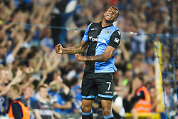 April 19, 2018 - Brugge, BELGIUM - Club's Wesley Moraes celebrates after scoring during the Jupiler Pro League match between Club Brugge and Sporting Charleroi, in Brugge, Thursday 19 April 2018, on day four of the Play-Off 1 of the Belgian soccer championship. BELGA PHOTO BRUNO FAHY (Credit Image: © Bruno Fahy/Belga via ZUMA Press)